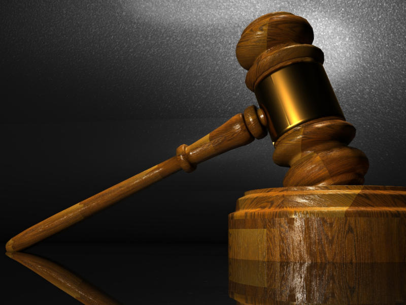 Richterhammer als Symbol für das Monsanto-Tribunal
