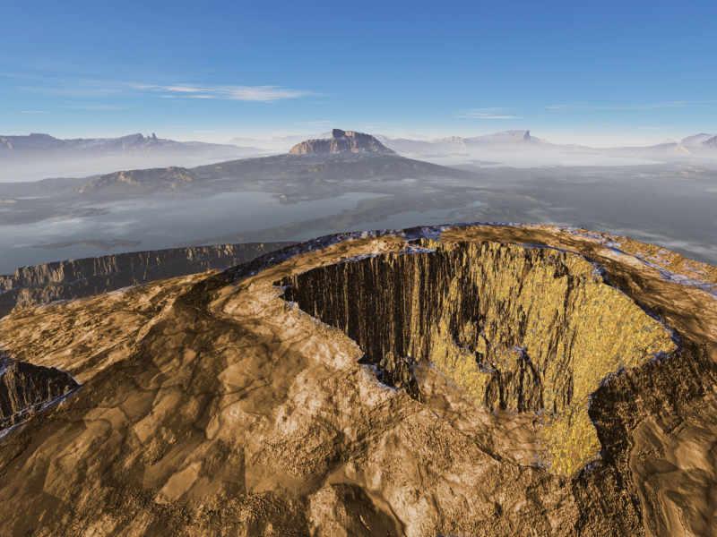 Zum Buch: Der Krater von Douglas Preston